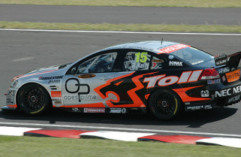 Rick Kelly's HSV Dealer Team Commodore VE from 2008 with Opes Prime backing