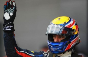 Mark Webber took pole position for the British Grand Prix