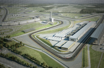 An artists impression of the Circuit of Americas in Texas