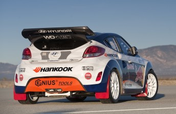 The Hyundai Veloster that Robbie Maddison will drive