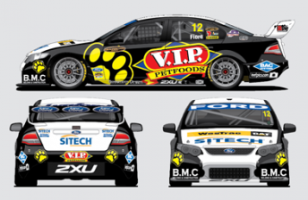 Dean Fiore's one-off VIP Petfoods Falcon that he'll drive at Queensland Raceway