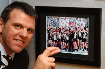 Jason Bright is crossing his fingers for back-to-back Pies premierships