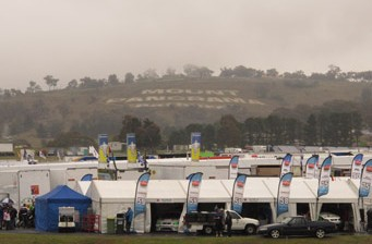 Mount Panorama at 10.15am today