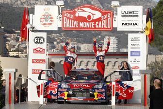 Loeb celebrates his Rallye Monte Carlo win
