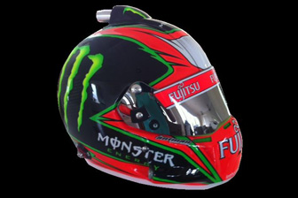 Lee Holdsworth's Monster and Fujitsu-backed helmet