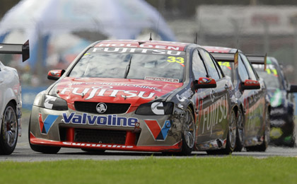 Alexandre Premet leads team-mate Michael Caruso at the Clipsal 500