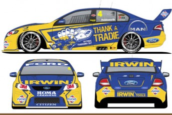 The new-look IRWIN Tools Falcon that will compete at Eastern Creek and Sandown