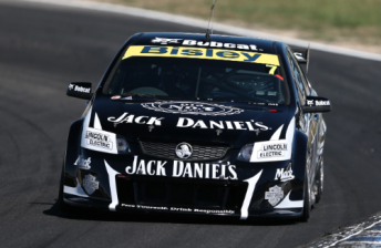 Tim Blanchard in the #7 Jack Daniel's Commodore at Winton