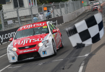 Scott McLaughlin crosses the line to secure the 2012 Dunlop Series