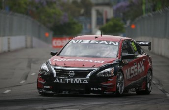 Rick Kelly cut his first laps in the Altima, albeit at a reduced pace