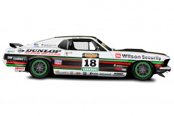 Art of John Bowe's Dunlop Super Dealer Wilson Security Ford Mustang