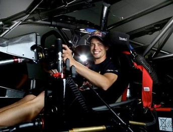 Casey Stoner sitting aboard his Red Bull Racing Australia Pirtek Holden