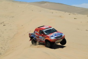 Geoff Olholm is now 10th outright at the Dakar