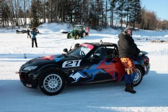 Mazda ice racing in Sweden