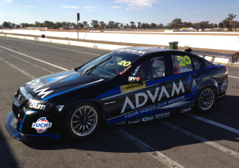 Andrew Jones' new Dunlop Series entry during pre-season testing at Winton