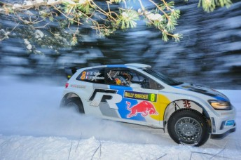 Sebastien Ogier is closing-in on victory in Sweden