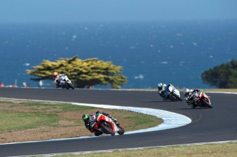 Sam Lowes will start from pole in the World Supersport race at Phillip Island