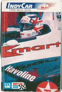 Mansell on the cover of the 1994 IndyCar Media Guide