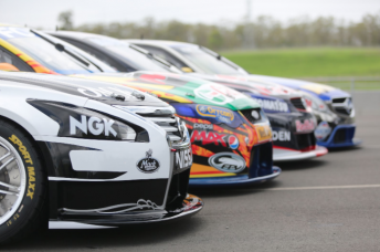 The four V8 Supercars manufacturers will hit the track for the first time in Adelaide today