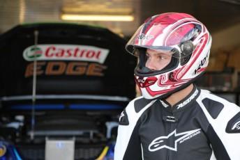 Jordie Lindstrom awaits his Honda hot lap