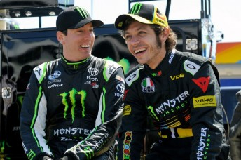 Kyle Busch had a blast with Rossi