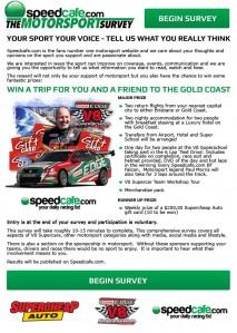 The Motorsport Survey presented by Speedcafe.com