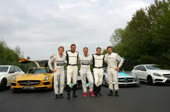 Schumacher was joined by Nico Rosberg, Karl Wendlinger, Bernd Schneider and Bernd Maylander