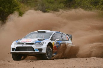 Sebastien Ogier is out front in Argentina