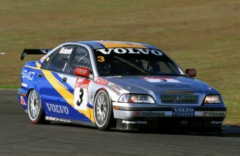 The S40, seen here at Oran Park in 1999, was the last of the Volvo Super Tourers