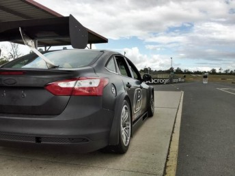 The Focus in Queensland Raceway's pitlane