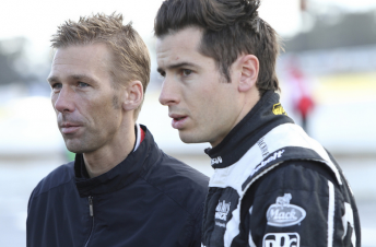 Michael Krumm and Rick Kelly brave the cool Winton morning