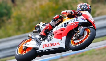 Marc Márquez continued his outstanding rookie season at Brno