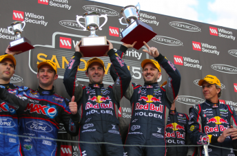 Whincup and Dumbrell celebrate victory
