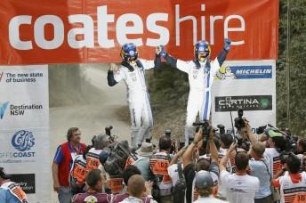 Sebastien Ogier and Julien Ingrassia won Rally Australia for Volkswagen