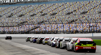 The Sprint Cup field testing at Daytona