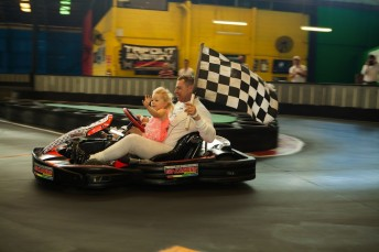 Cam Wilson celebrates world record with daughter ...