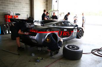 The JBS Lamborghini at Bathurst on Thursday
