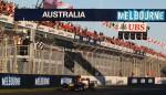 Sebastian Vettel takes the chequered flag to win the 2011 Australian Grand Prix