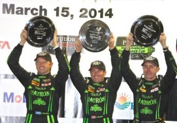 David Brabham (right) celebrates at Sebring