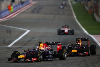 Ricciardo overtaking Vettel during Bahrain GP