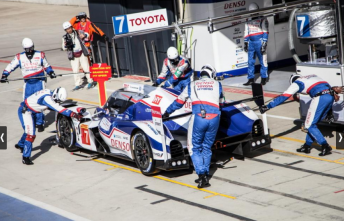 The #7 Toyota of Kazuki Nakajima and Alex Wurz will start from pole at Silverstone