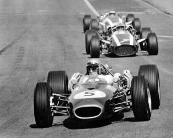 Brabham leading Surtees