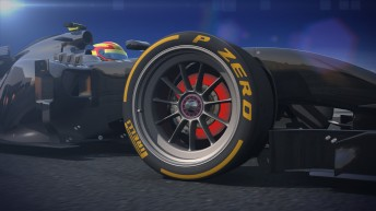 Artist impression of new Pirelli 18 inch tyre