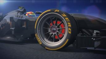 Artist impression of new Pirelli 18 inch tyre