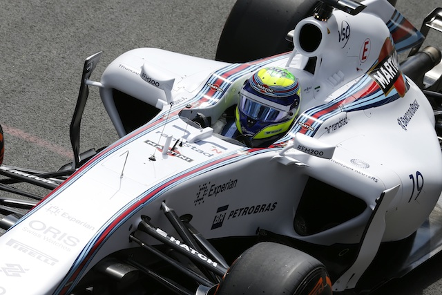 Felipe Massa topped the first day of testing at Silverstone