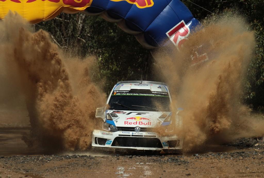 Sebastien Ogier on his way to victory