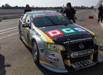 Evans spent the majority of the test in Andrew Jones' Dunlop Series Holden