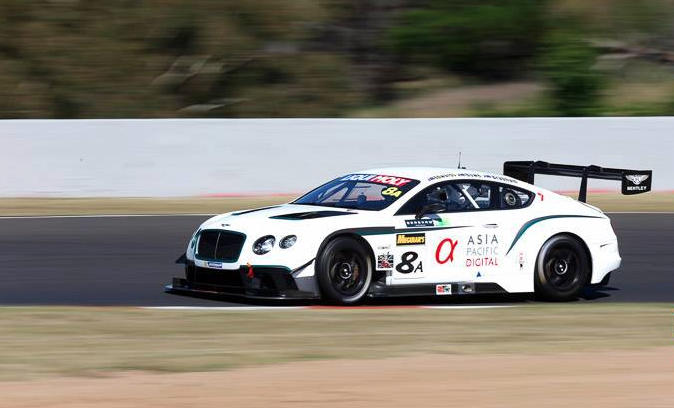The Flying B Racing Bentley has incurred chassis damage