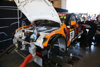 Repairs to the MARC Mazda are well underway