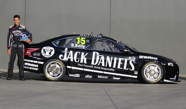Rick Kelly with the Perkins Holden-inspired Jack Daniel's livery on his Nissan